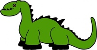 dinosaur,cartoon,toy,green,animal,contour,line art