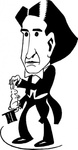 magician,howard,thurston,cartoon,caricature,man,person,magic,media,clip art,externalsource,public domain,image,svg