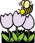 flower,cartoon,nature,bee,tulip,season,spring,media,clip art,externalsource,public domain,image,svg