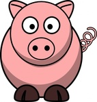 remix,pig,cartoon,outline,colour,animal,icon,clip art,media,public domain,image,svg