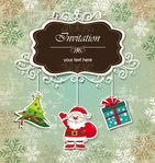 background,frame,gift,greeting,grunge,holiday,illustration,santa claus,season,snowflake,tree