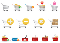 add,basket,box,cart,e-commerce,element,finance,illustration,market,object,package,sale,shopping,sign,symbol,vector icon