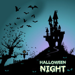 backdrop,background,bat,castle,celebration,cover,cute,event,evil,fall,flyer,flying,grunge,grungy,halloween,haunted,hill,holiday,horror,house,illustration,invitation,moon,night,october,party,scary,seasonal,silhouette,spooky,text,texture