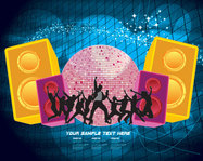 abstract,background,club,discoball,party,people,sound box