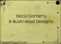 corner,deco,embellishment,retro design,art deco,deco corner