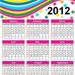 calendar,celebration,colorful,flower,holiday,month,new year,rainbow