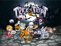 halloween,pumpkin,trick or treat,bat,cartoon,dark,dracula,frankenstein,werewolf,ghost