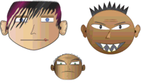 emo,mafia,skull,eye,face,cartoon,character