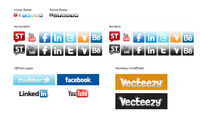 social media icon,facebook,twitter,behance,stock twit,linkedin,youtube,ley  design,icon