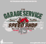 car,vintage,t shirt,garage service,service45,speed shop,graphic book,tshirt design,old car,vector design