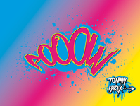 tommy brix,pixel,pooow,graffiti,splattered,drip,color,cyan,magenta,yellow