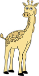 giraffe,animal,cartoon,illustrate,child,yellow,spot,drawn