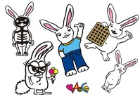 bunny,rabbit,character,hand drawn,animal