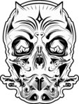 devil,skull,black,white,fuctastic