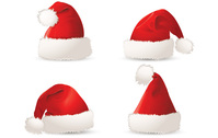 christmas,santa,hat,red