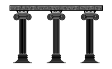 column,greek column,the ionic style,black and white,classic art