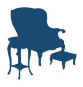 silhouette,armchair,chair,table,side table,stool,foot stool,furniture