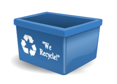 clip art,recycle,recycling,blue box,recycling box,recycling bin,blue bin,blue,bin,box,we recycle,trash,garbage,rubbish,image,svg,free,media,3-d