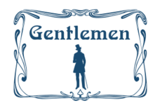 man,men,gentleman,gentlemen,toilet,wc,door,sign,home,house,decoration,art nouveau