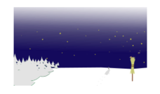 winter,night,winter night,starry sky