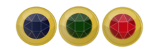 jewel,button,gold,red,blue,green,set,three,jewel,clipart,svg,png,public domain,image,inkscape