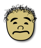 sad,comic,face,curly,head,icon,avatar