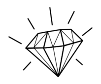 diamond,line art