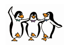 penguin,dancing,bird,happy,syrtaki,greek,tux,dance,bow tie,pinguin,animal,comic,cartoon