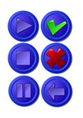 set,collection,icon,button,blue,round