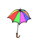 umbrella,tool,colored,cartoon
