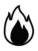 fire,icon,monochrome,black & white,symbolic