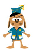 police,dog,animal,character,cartoon,manga,comic