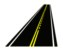 road,street,roadway,highway,transportation,double yellow line,passing,passing zone,dashed yellow line,perspective