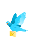 message,mail,email,deliver,flying,delivering,pigeon,bird,animal,feather