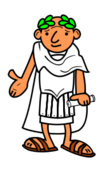 cartoon,roman,emperor,school,history,education,person,man,sandal,sandal