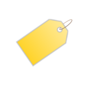 tag,icon,yellow,metadata,action,media,clip art,public domain,how i did it,png,svg,photorealistic
