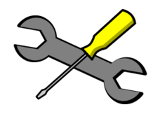 tool,setting,property,icon,symbol,cartoon,comic,outline,screwdriver,wrench