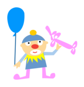 people,clown,man,balloon,cute,cartoon,cartoony,character,character design,job,happy