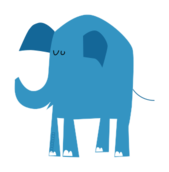 tarn,elephant,blue,animal,cute,cartoon,thai,ak student