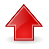 sign,symbol,icon,arrow,up,red