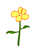 unchecked,flower,petal,green,plant,yellow,illustration