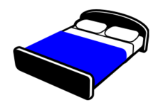 remix,bed,blue,black,furniture,double bed,bedroom,clip art,media,public domain,image,png,svg