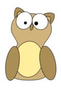 unchecked,owl,brown,animal,bird,fly,cartoon,media,clip art,public domain,image,svg