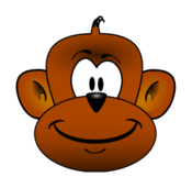 media,clip art,public domain,image,svg,monkey,head,animal,cartoon,mammal