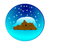 animal,mammal,bear,sleeping,night,star,winter,snow,media,clip art,public domain,image,png,svg