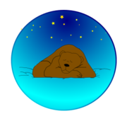 animal,mammal,bear,sleeping,night,sky,star,media,clip art,public domain,image,png,svg