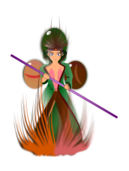 media,clip art,public domain,image,png,svg,anime,girl,people,manga,fire,gem,guardian