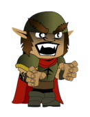 remix,orc,character,wesnoth,battle for wesnoth,medieval,rpg,role playing,dungeon and dragon,gothic,middle age,fantasy,minus trooper,chibi,grunt,soldier,evil,warrior,clip art,media,how i did it,public domain,image,png,svg
