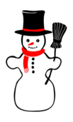 snow,winter,snowman,cartoon,media,clip art,public domain,image,png,svg