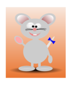 animal,mouse,cartoon,colour,no contour,media,clip art,public domain,image,png,svg